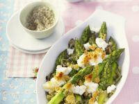 Baked Asparagus with Feta Cheese recipe