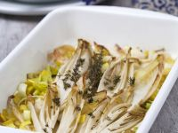 Baked Belgian Endives and Leeks recipe