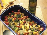Baked Broccoli and Potatoes with Salted Fish recipe