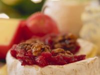 Baked Camemberts with Apple-cranberry Sauce recipe