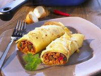 Baked Chicken Crepes with Cheese recipe
