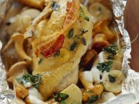 Baked Chicken with Mushrooms and Potatoes recipe