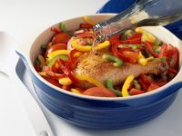 Baked Chicken with Peppers recipe