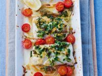 Baked Cod Fillets with Fennel recipe