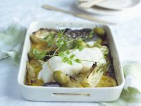 Baked Cod with Lemony Fennel recipe