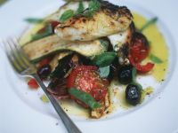 Baked Cod with Summer Vegetables recipe