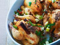 Baby Chickens with Fruit recipe