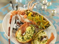 Baked Lobster with Herbs recipe