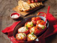 Baked Egg-Stuffed Tomatoes recipe