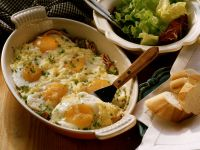Baked Eggs with Ham and Cheese recipe