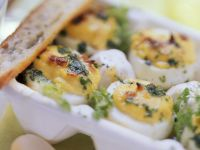 Baked Eggs with Herbs recipe