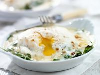 Baked Eggs with Spinach recipe