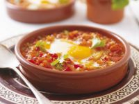 Baked Eggs with Vegetables recipe