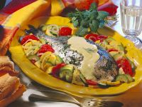 Fish with Vegetables and Mustard Sauce recipe