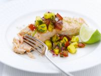 Baked Fish with Salsa recipe