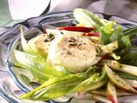 Baked Goat Cheese with Dandelion Salad recipe