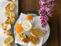 Baked Goat's Milk Brie with Apricots recipe