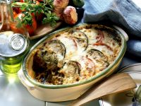 Baked Greek Mince Meat and Aubergine (Moussaka) recipe