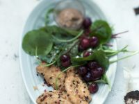 Baked Guinea Fowl with Sour Cherry Salad recipe