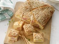 Baked Ham and Cheese Filled Bread recipe