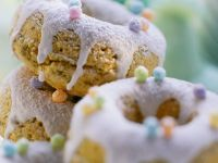 Baked Lavender and Pistachio Donuts recipe