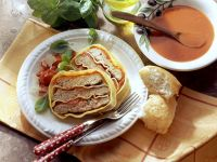 Baked Meatloaf with Lasagna Noodles and Tomato Sauce recipe