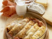 Baked Mushroom, Bacon and Ricotta Crêpes recipe
