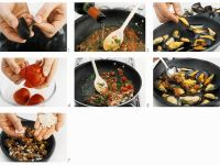 Baked Mussels with Tomatoes recipe