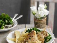Baked Mustard Chicken with Root Vegetables recipe
