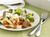 Baked Pasta with Broccoli, Cheese and Sausage recipe