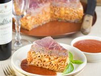 Baked Pasta with Meat and Tomato Sauce recipe