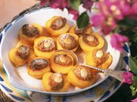 Baked Peaches with Almond Filling recipe