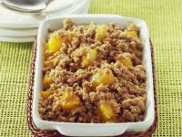 Baked Peaches with Crumble