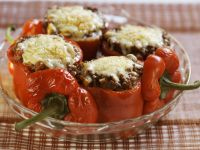 Baked Peppers Stuffed with Cheese recipe