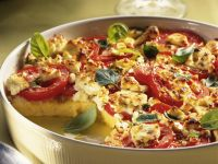 Baked Polenta with Tomatoes and Feta Cheese recipe