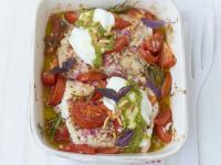 Baked Pollock Filet with Tomatoes recipe