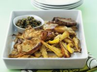 Baked Pork Chops with Parsnips recipe