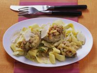 Baked Pork Medallions with Marsala and Noodles recipe