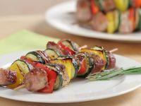 Baked Pork Tenderloin and Vegetable Skewers recipe