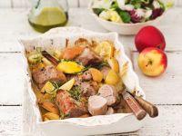 Baked Pork Tenderloin with Apples recipe
