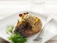 Baked Potato with Amaranth Stuffing recipe