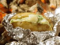 Baked Potatoes Stuffed with Cheese recipe