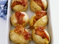 Baked Potatoes with Corn and Ham Filling recipe
