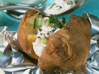 Baked Potatoes with Creamy Dip recipe