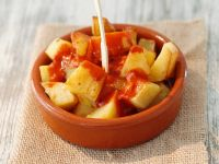Baked Potatoes with Pepper Sauce recipe