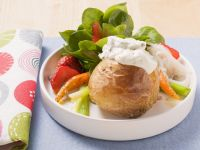 Baked Potatoes with Salad recipe