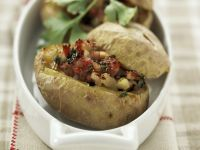 Baked Potatoes with Sausage recipe