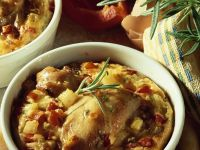 Baked Rabbit and Vegetables Custards recipe