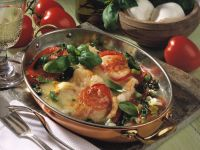 Baked Redfish Fillets with Tomatoes and Basil recipe