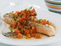 Baked Salmon with Fresh Tomato Salsa recipe